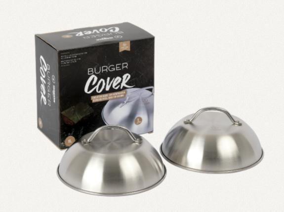 Moesta BurgerCover XL 2er Set Schmelz- und Hitzeglocke für alle Burger-Arten
