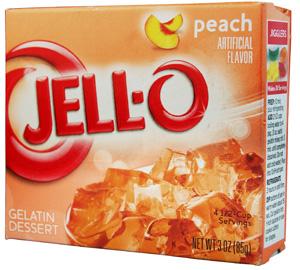 Jell-O- Peach Götterspeise