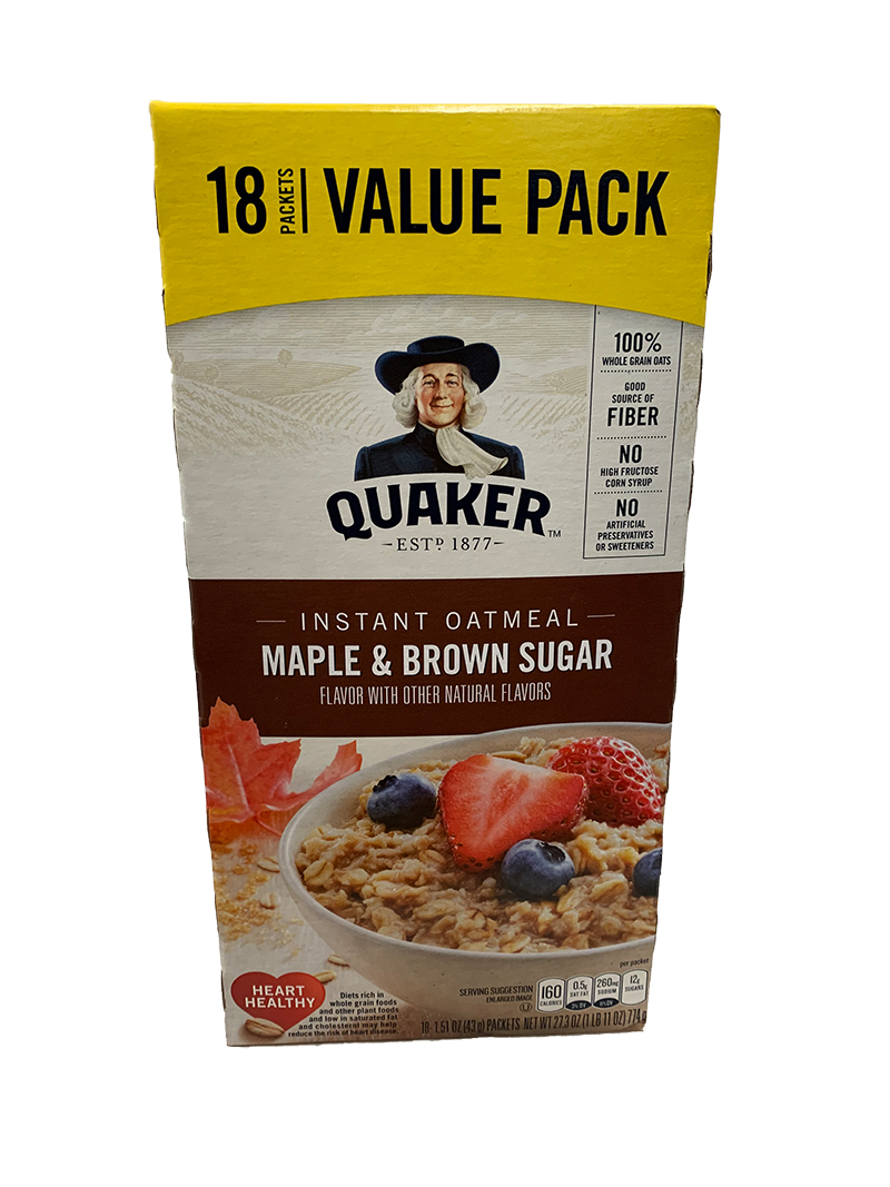 Quaker Instant Oat Maple & Brown Sugar Value Pack 18 Packets