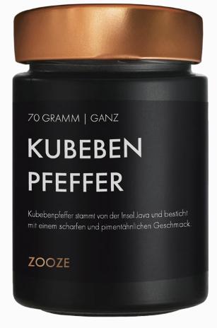 ZOOZE Kubebenpfeffer (Ganz) 70g Schraubglas