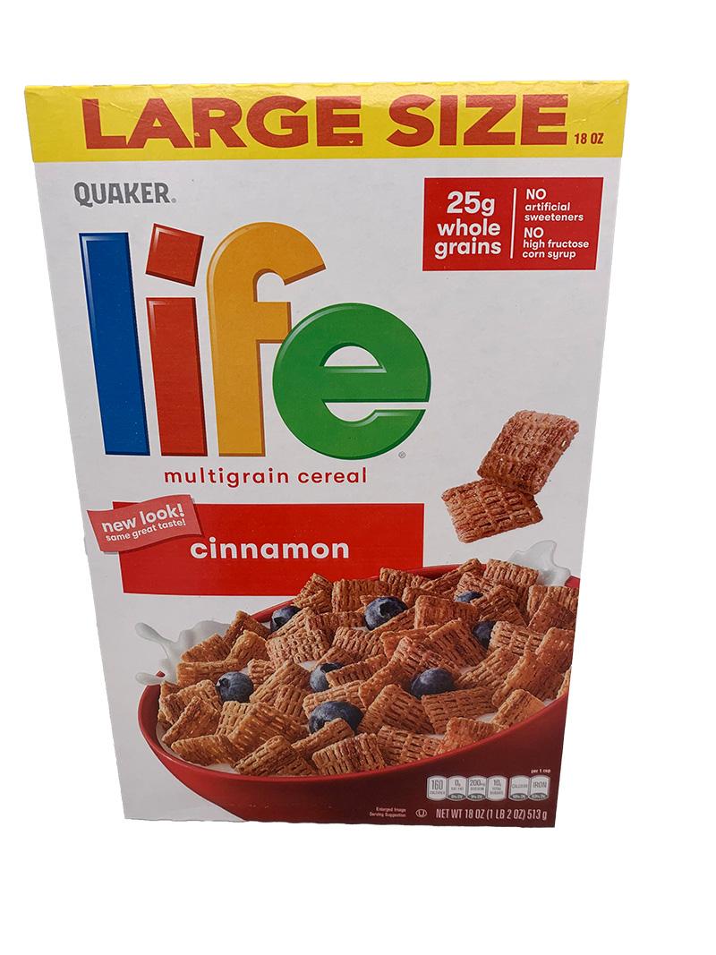 Quaker Life Cinnamon Cereals (513g)