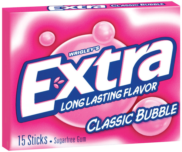 Wrigley´s Extra Classic Bubble Kaugummi (MHD 26.09.2020)