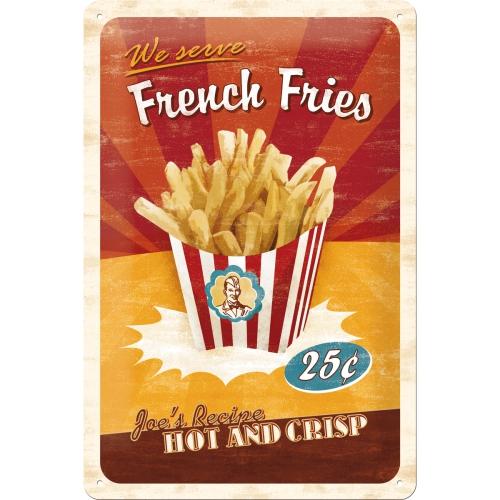 "Blechschild ""French Fries"" (20x30cm)"