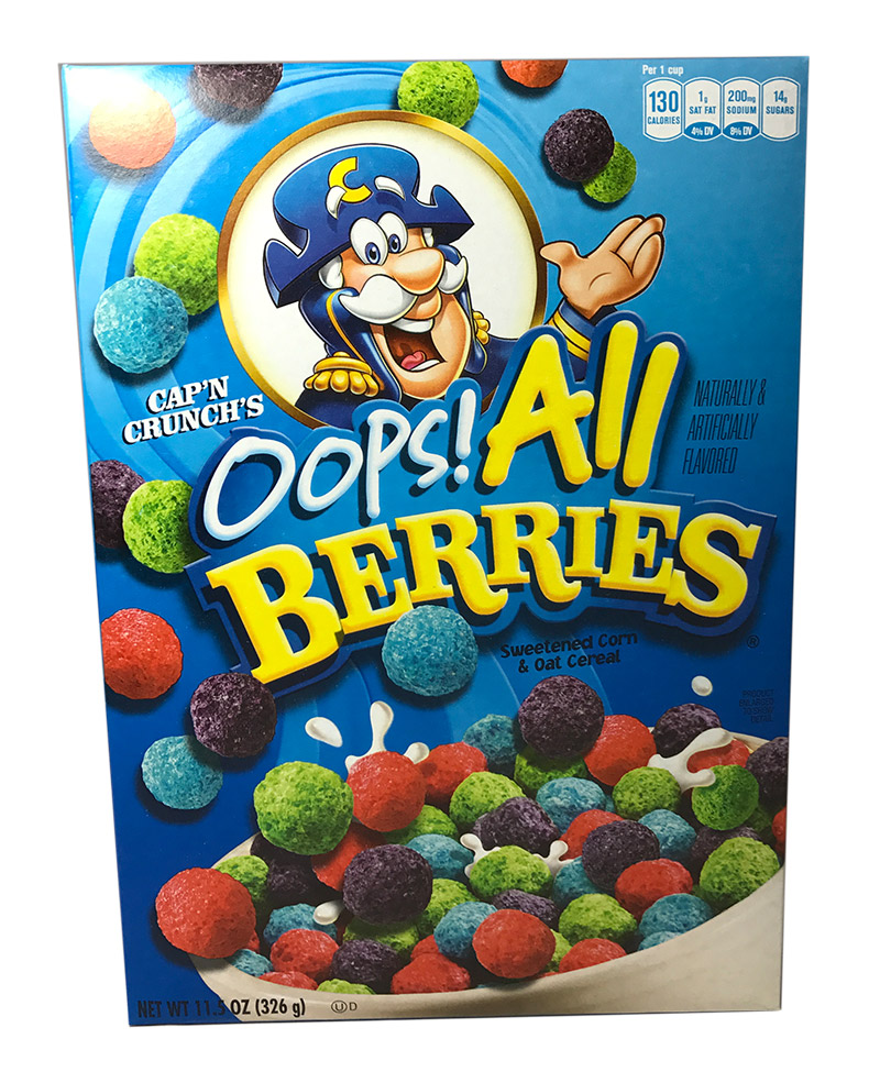 Quaker Capn Crunch Oops! All Berries (326g)