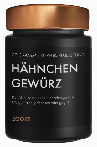ZOOZE Hähnchen Gewürz (Gewürzzubereitung) 80g Schraubglas