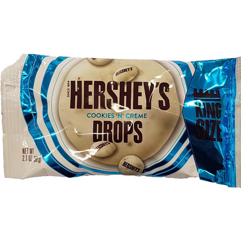 Hersheys Cookies & Creme Drops 59 g (MHD 04.2020)