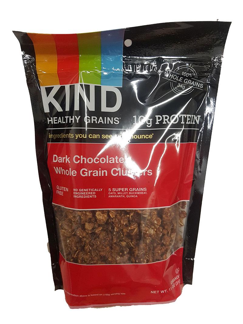 Kind Dark Chocolate Whole Grain Clusters 312 g (MHD 18.01.20)