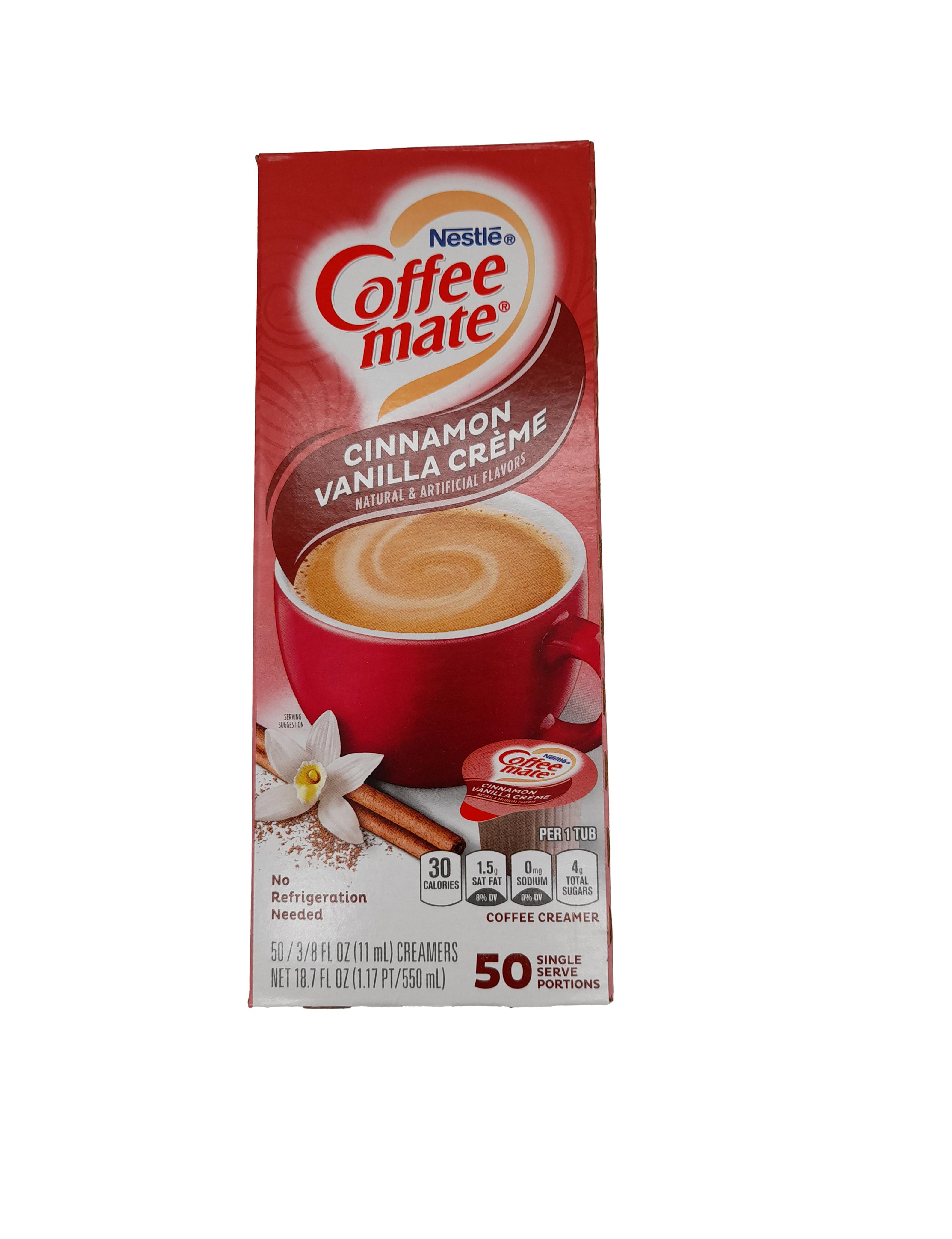 Nestle Coffee Mate Liquid Cinnamon Vanilla Creme Coffee Creamer 50x11ml (550ml)