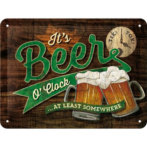 Beer O' Clock Glasses Blechschild 15 x 20 cm