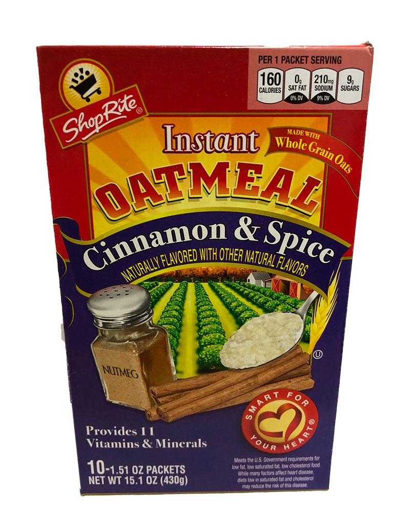 ShopRite Instant Oatmeal Cinnamon & Spice (MHD 29.04.20)