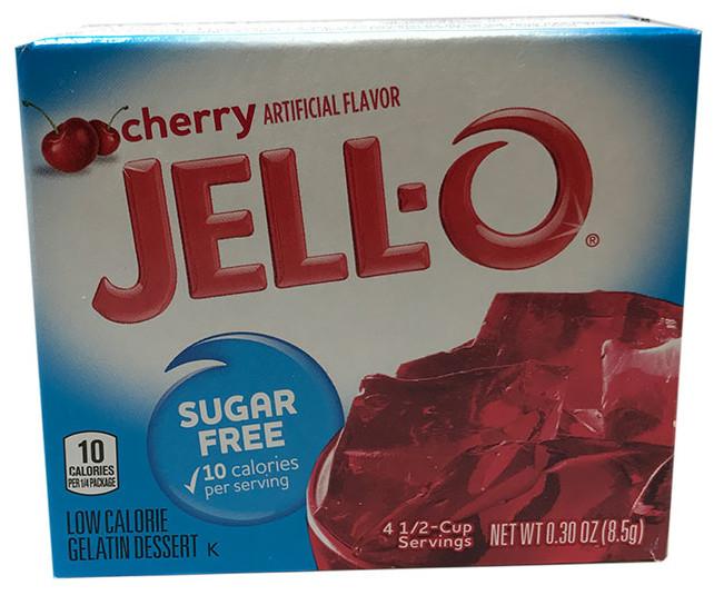 Jell-O Cherry Sugarfree