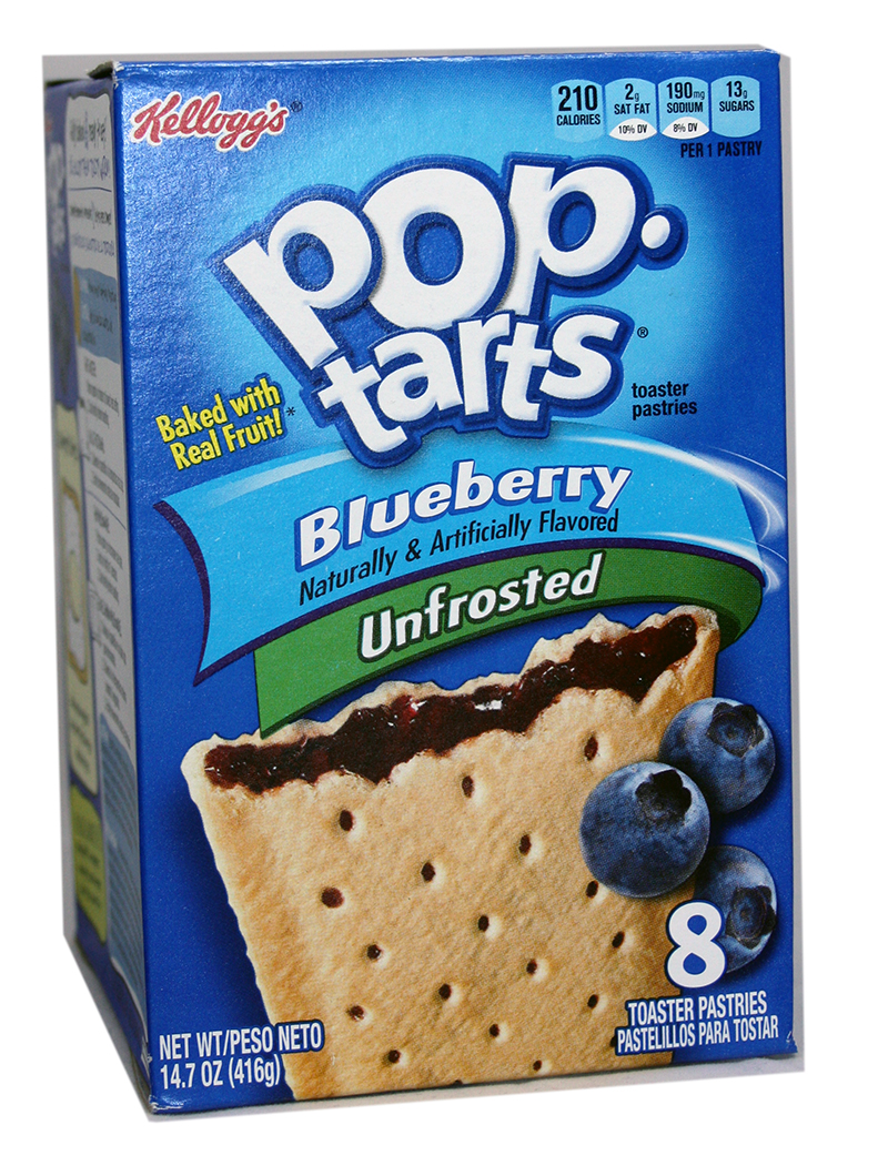 Kelloggs Poptarts Unfrosted Blueberry