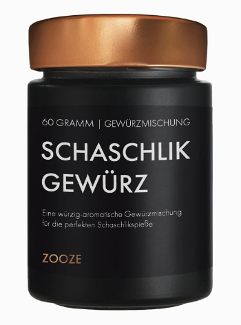 ZOOZE Schaschlik Gewürz 60g Schraubglas
