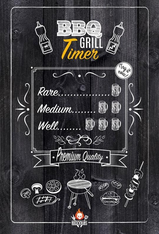 """Blechschild """" BBQ Grill Timer"""""""