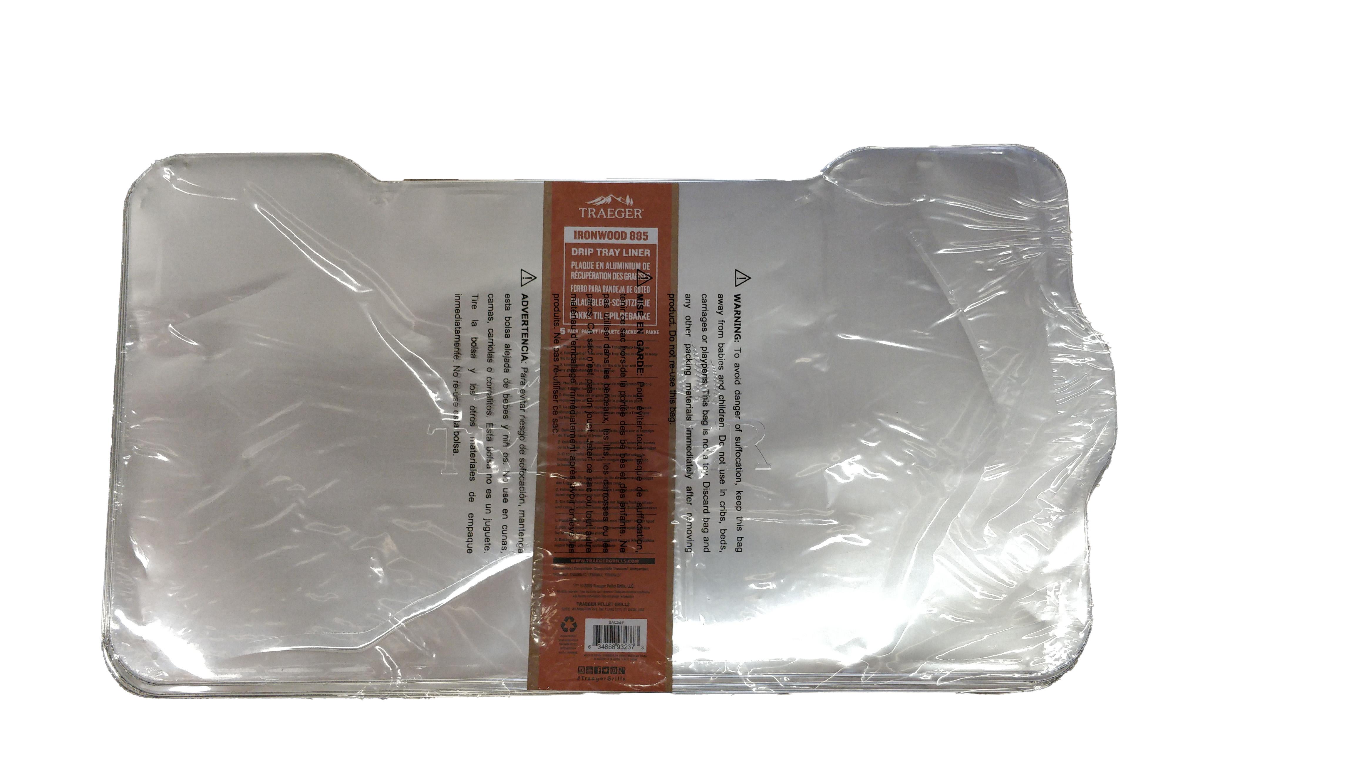 Traeger Ablaufblech-Schutzfolie für Ironwood 885 - 5 Pack