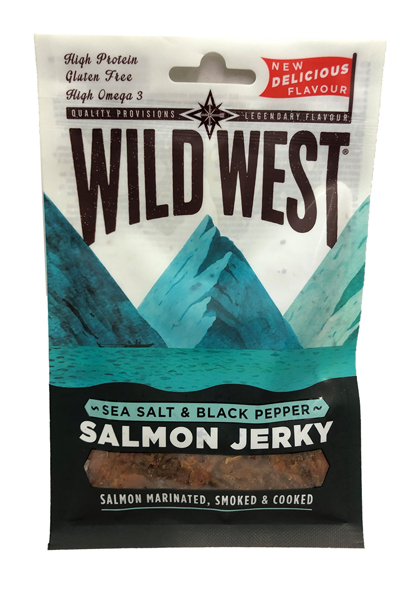 Wild West Salamon Jerky 30g