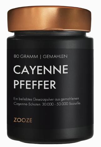 ZOOZE Cayenne Pfeffer  80g Schraubglas