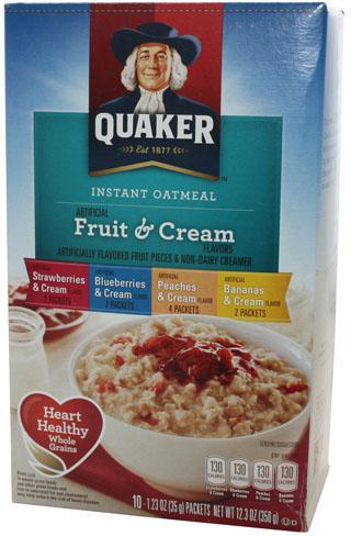 Quaker Instant Oatmeal Fruit & Cream