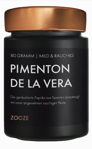 ZOOZE Paprika Geräuchert – Pimenton de la Vera (Mild) 80g Glastiegel