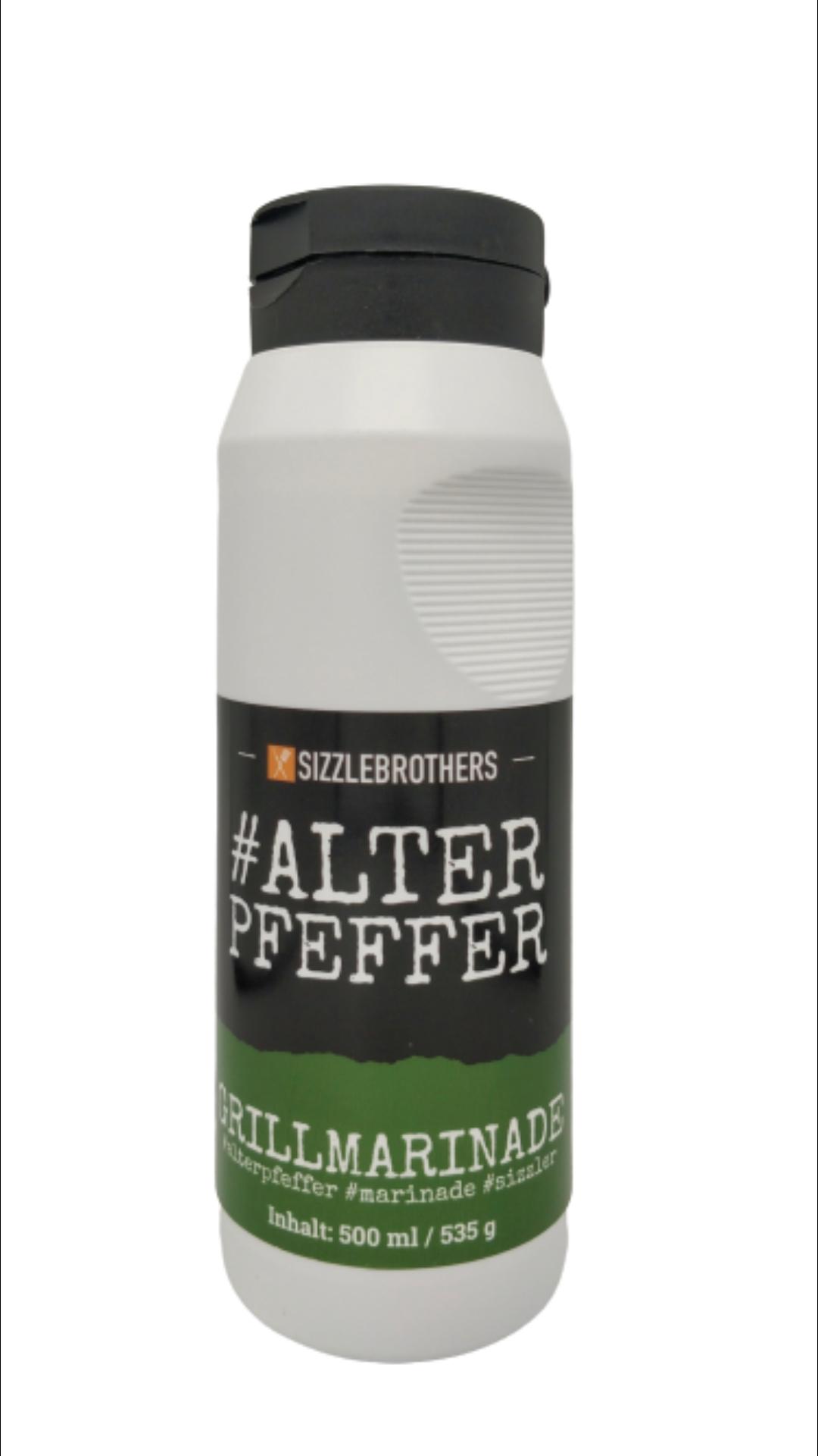 SizzleBrothers Alter Pfeffer Grillmarinade 500 ml