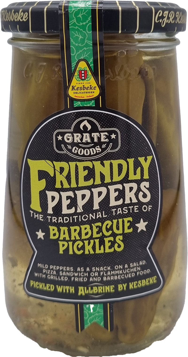 Grate Goods Friendly Peppers Barbecue Pickels 300g
