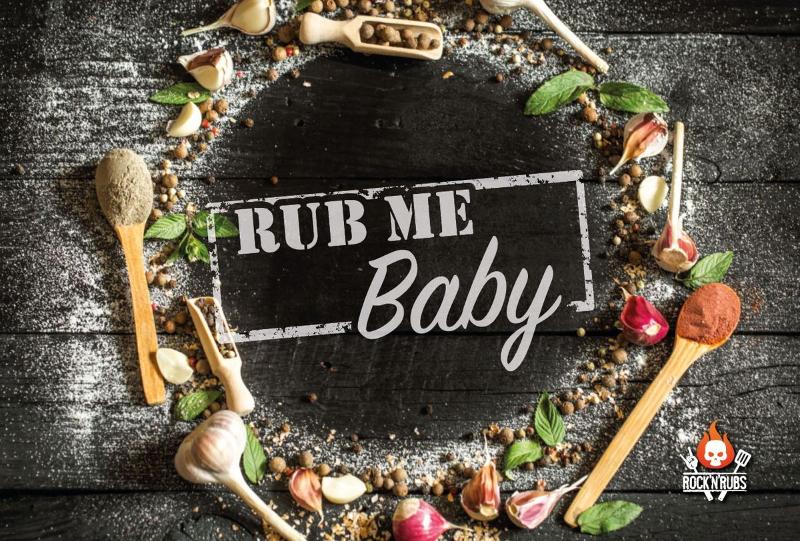 "Blechschild ""Rub me Baby"""
