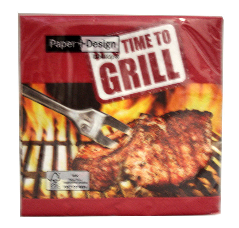 "Servietten ""It's time to grill"""