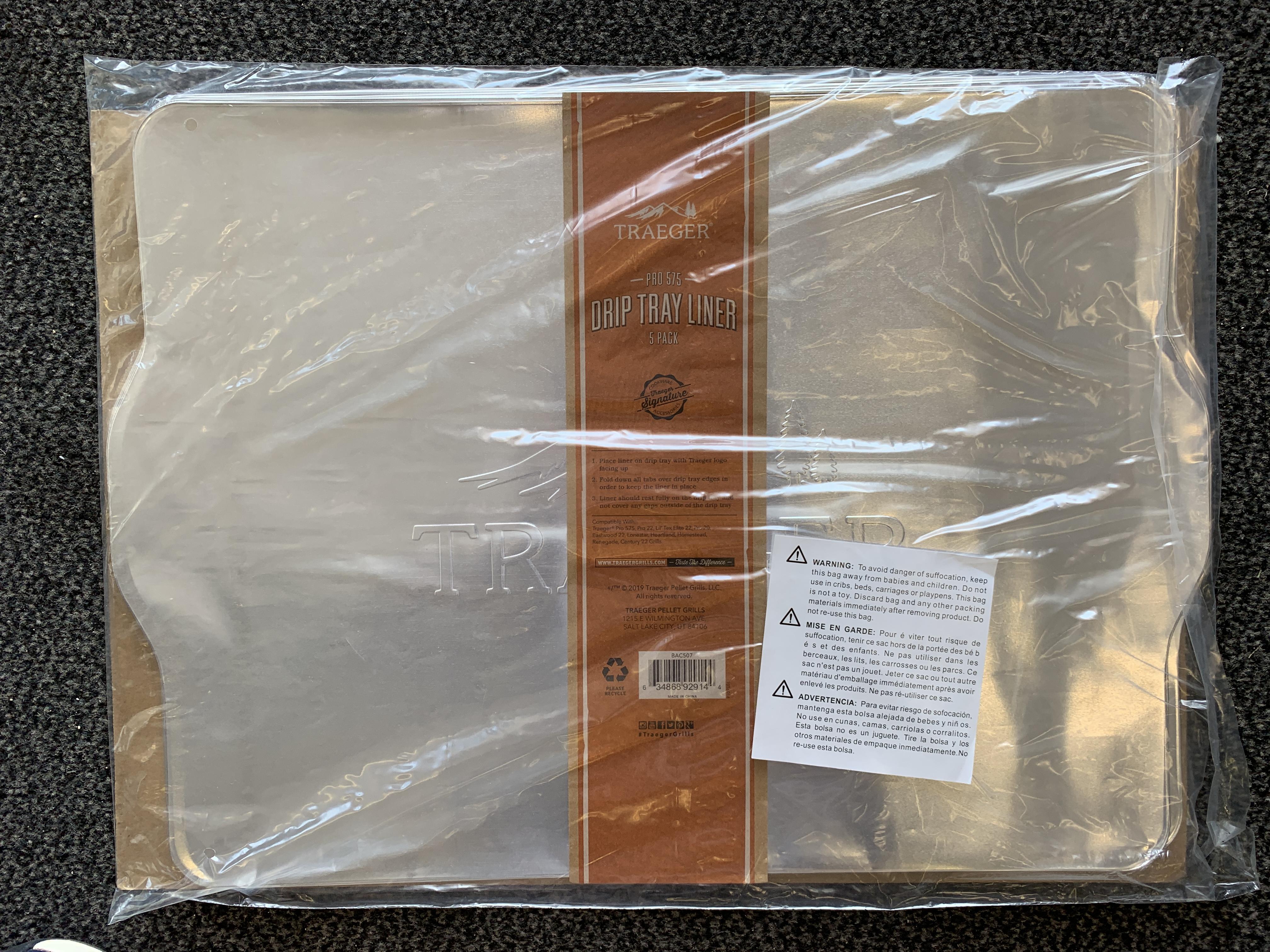 Traeger Ablaufblech-Schutzfolie für Pro 575 - 5 Pack