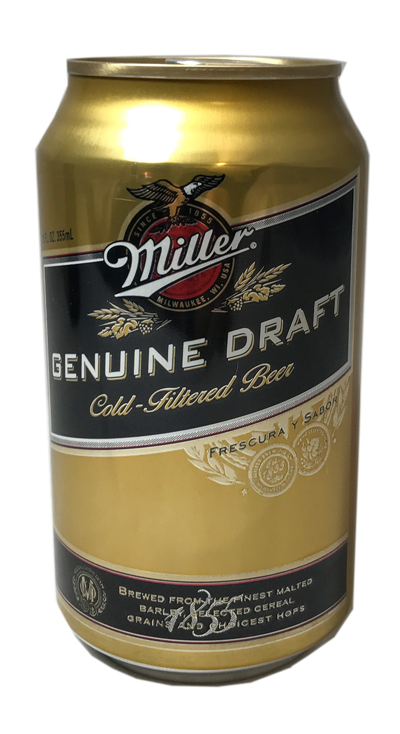 Miller Genuine Draft Cold-Filtered Beer (zzgl. 0,25€ Pfand)