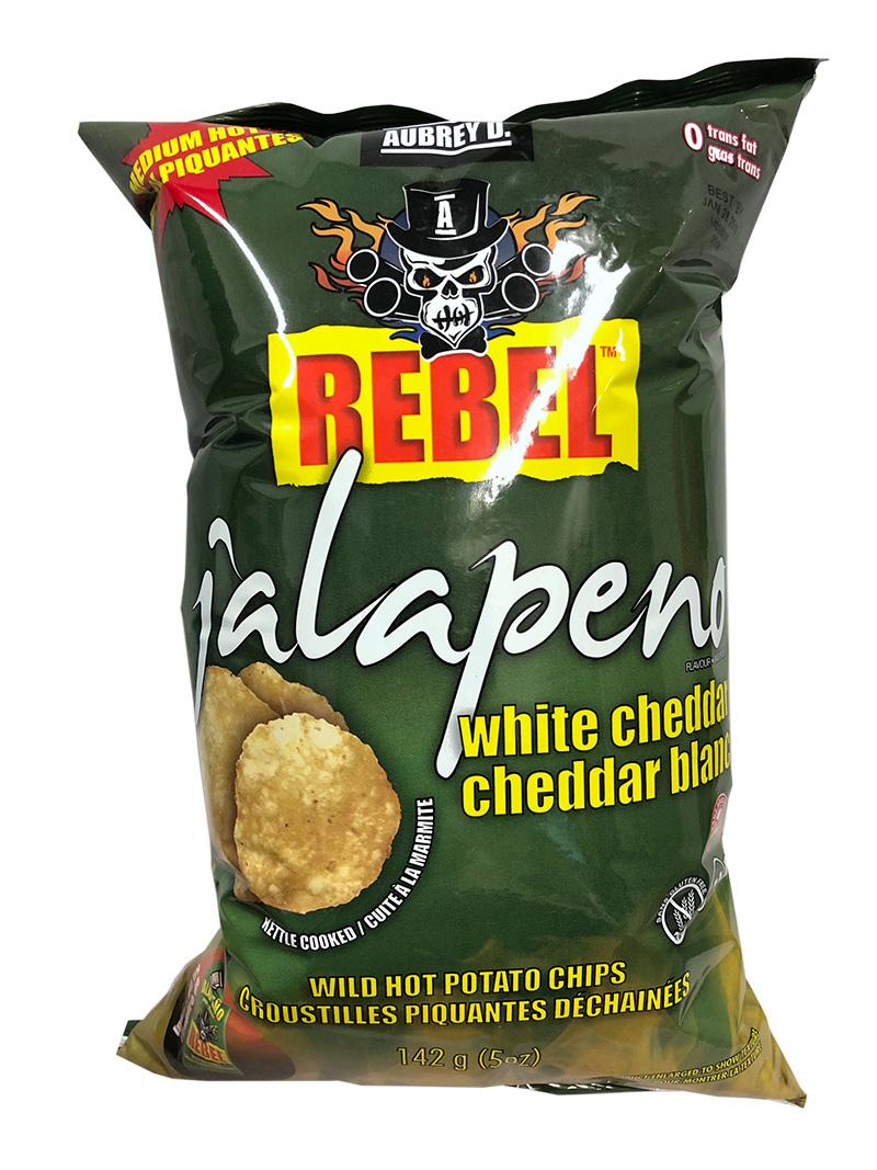 Rebel Jalapeno White Cheddar - Medium Hot (43g)