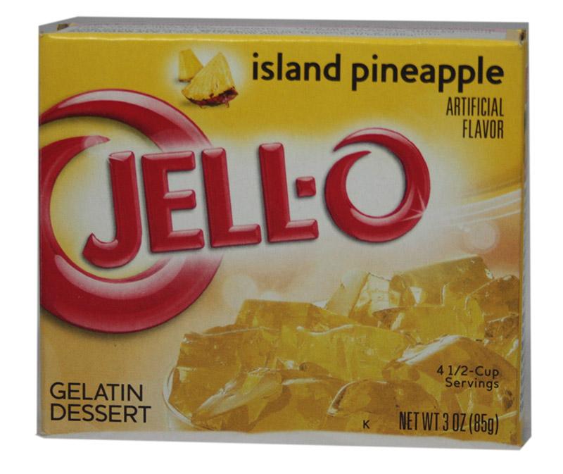 Jell-O Island Pineapple Götterspeise 85g (MHD 08.02.21)