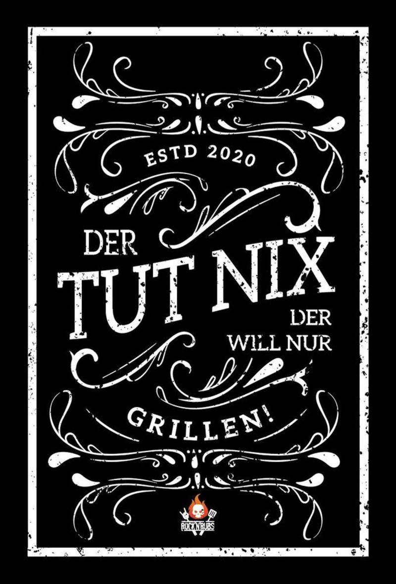"""Blechschild """"Der tut nix..."""""""