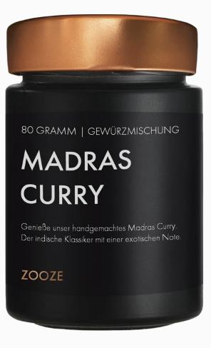ZOOZE Madras Curry 80g Schraubglas