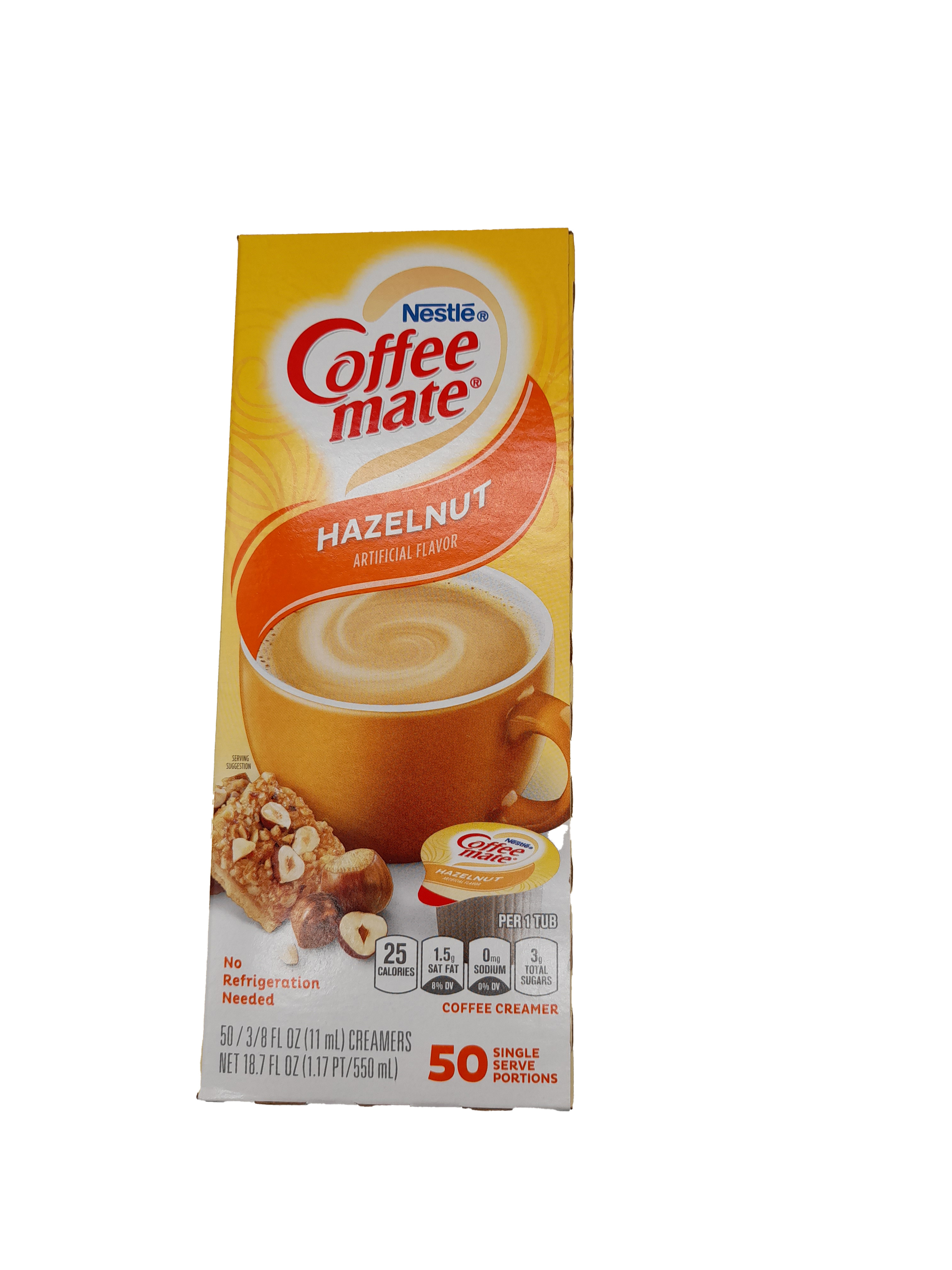 Nestle Coffee Mate Liquid Hazelnut Coffee Creamer 50x11ml (550ml)