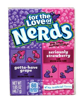 Wonka Nerds Grape - Strawberry 46 gr