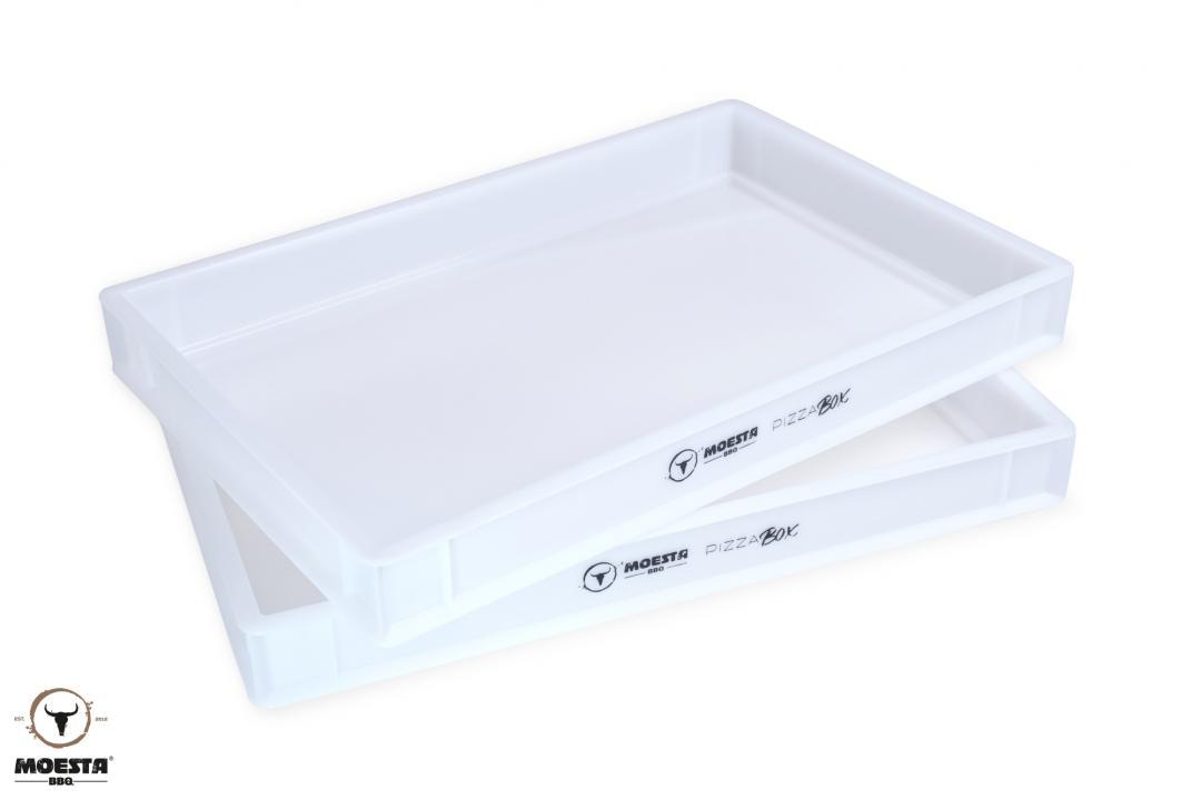 PizzaBox - Gärbox, 60 x 40 x 7 cm, aus lebensmittelechtem Kunststoff für Pizza Teiglinge