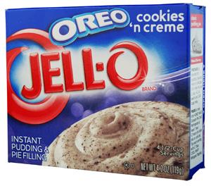 Jell-O- Oreo Cookies 'n Creme Pudding