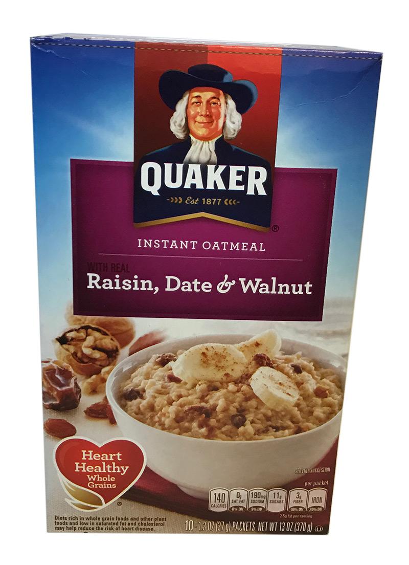 Quaker Instant Oat Raisin, Date & Walnut