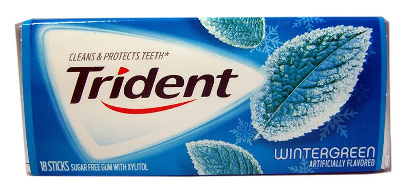 Trident Wintergreen Kaugummi