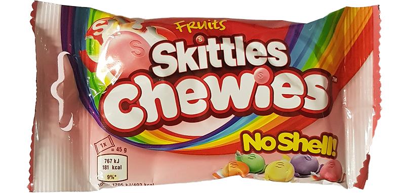 Skittles Fruit Chewies Bag Single 45g
