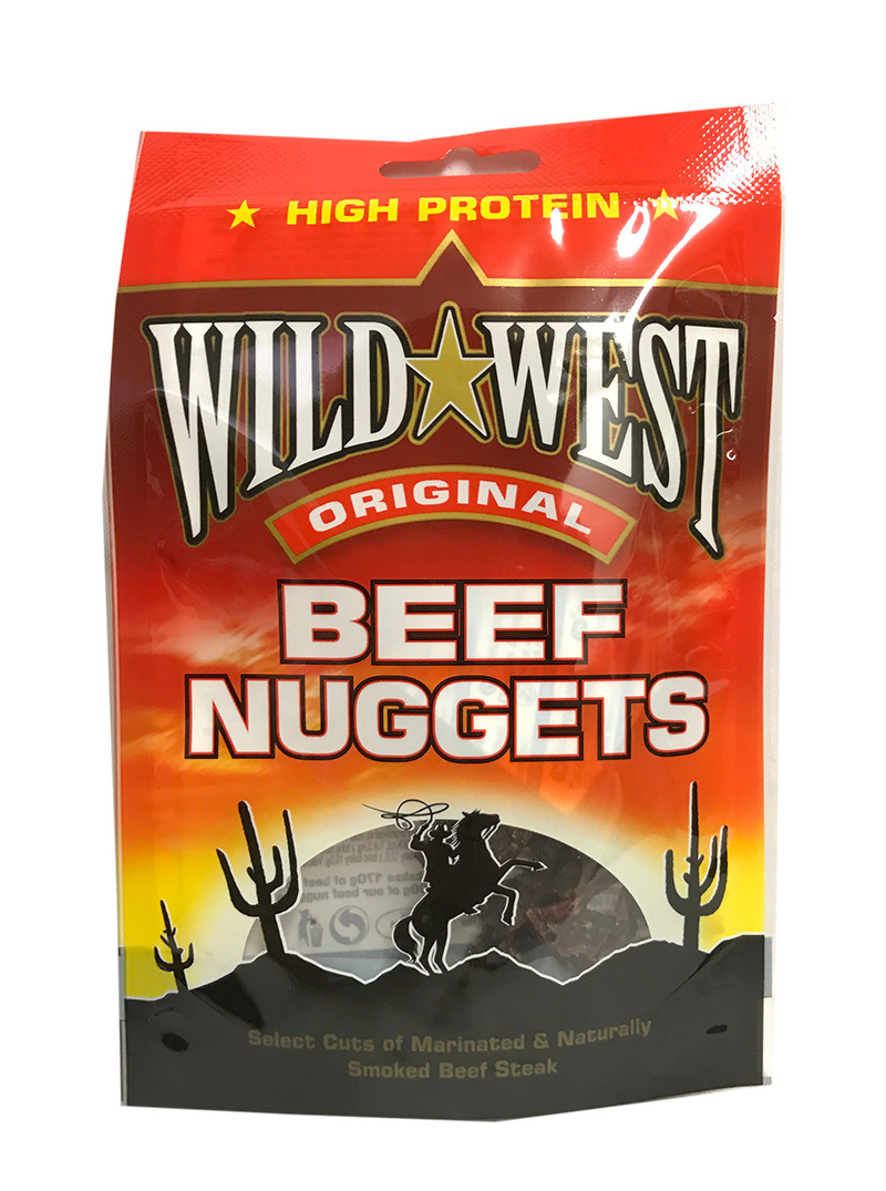 Wild West Beef Jerky Original Nuggets 25 Gramm