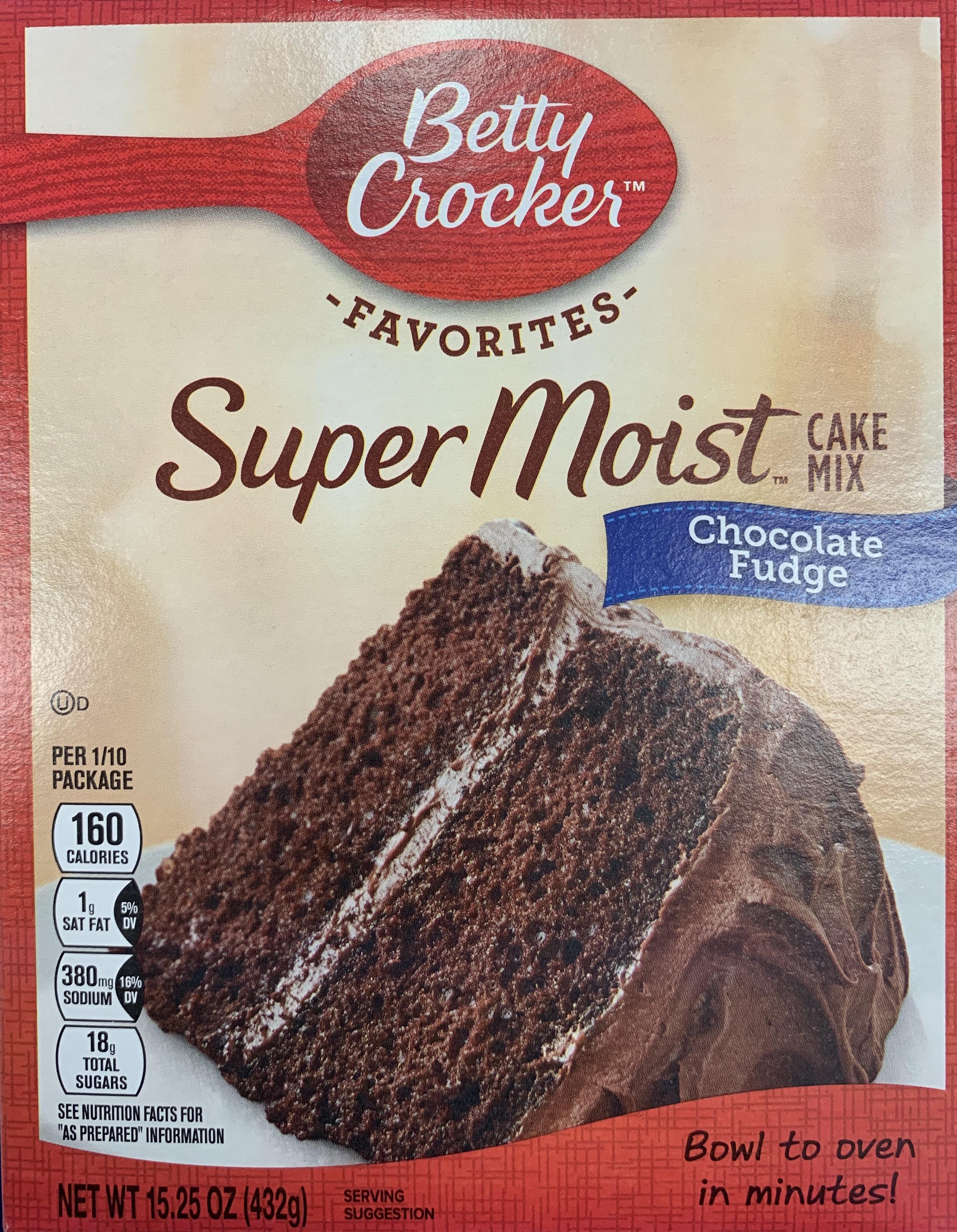 Betty Crocker Chocolate Fudge Cake