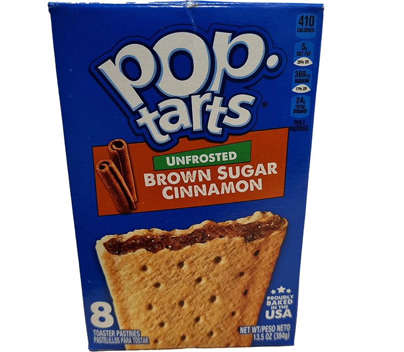 Kelloggs Poptarts Unfrosted Brown Sugar Cinnamon