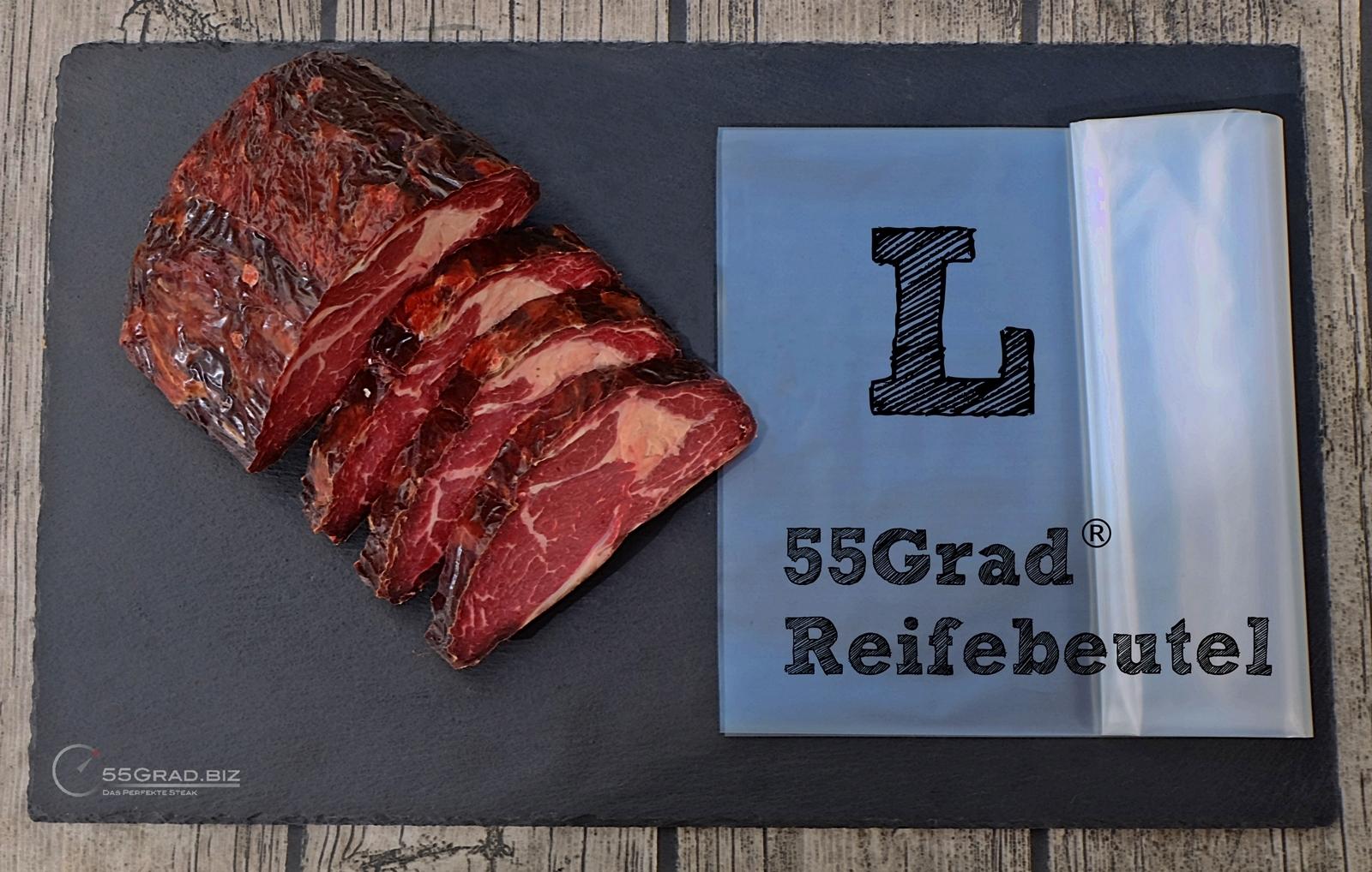 Das perfekte Steak Set Membranreifebeutel Größe L