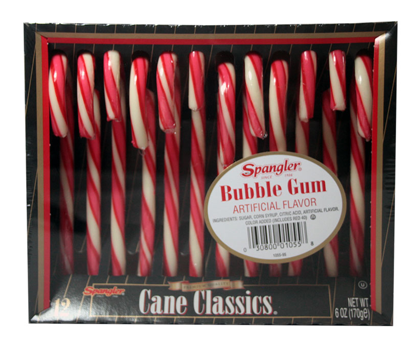 Candy Canes Bubble Gum