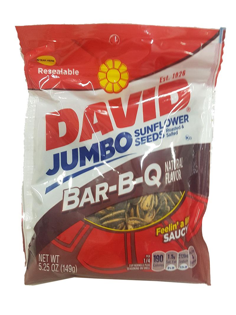 David's Sunflower Seeds Jumbo BBQ