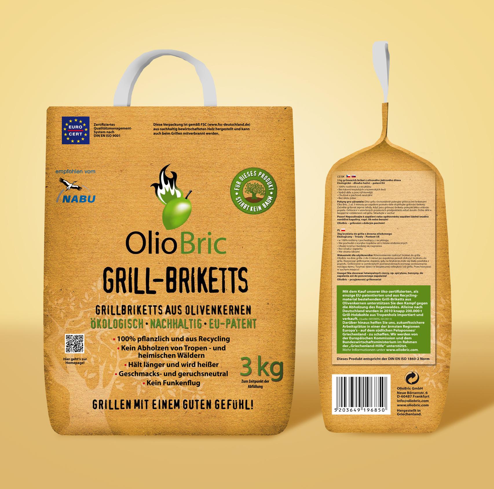 Olio Bric Gourmet-Grill-Briketts 3kg