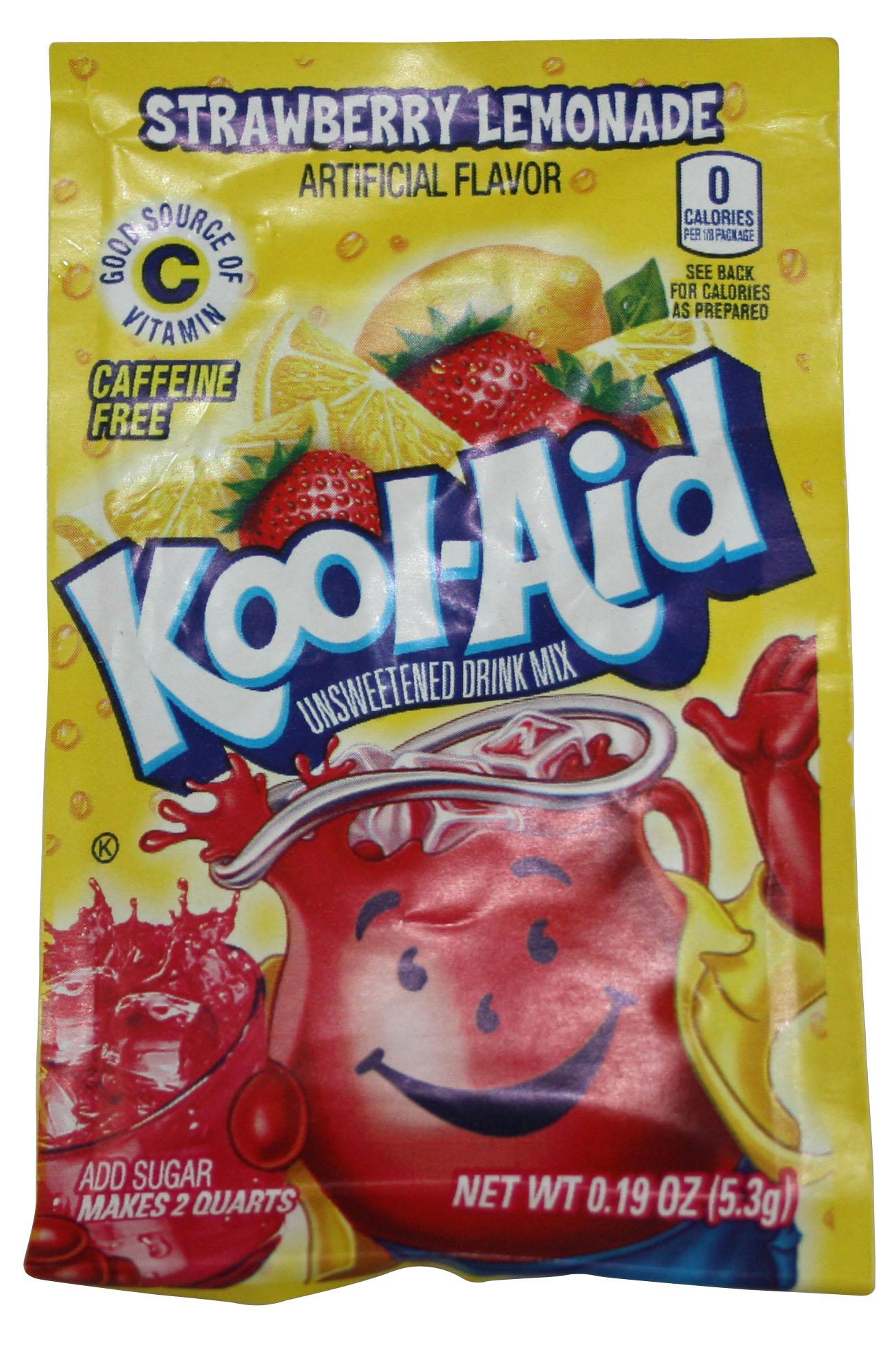 Kool Aid Drink Mix Strawberry Lemonade Probiertüten