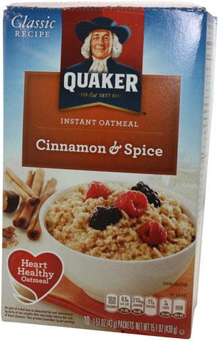 Quaker Instant Oat Cinnamon & Spice