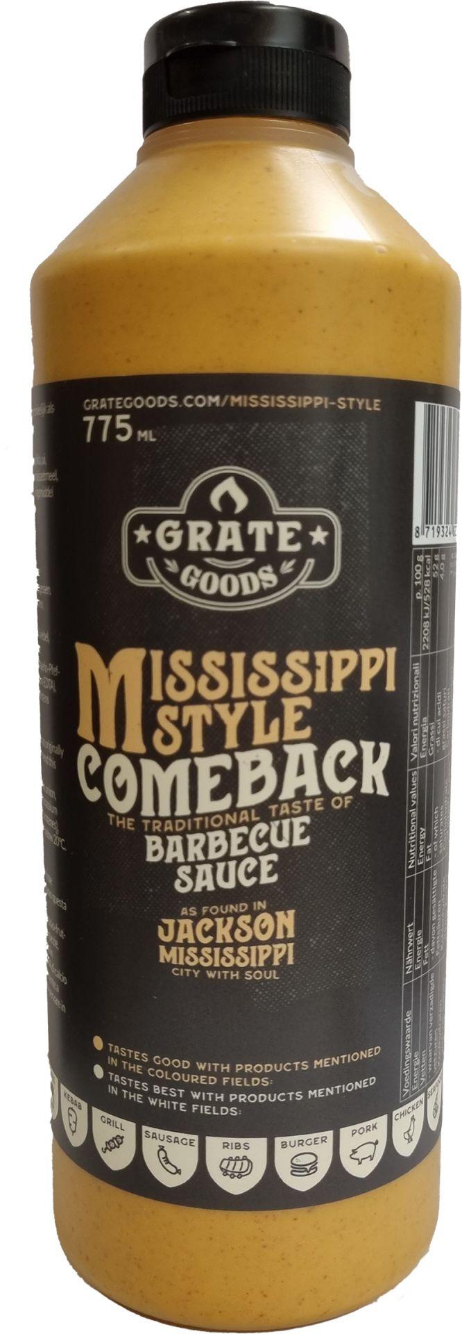 Grate Goods Mississippi Comeback BBQ Sauce 775ml